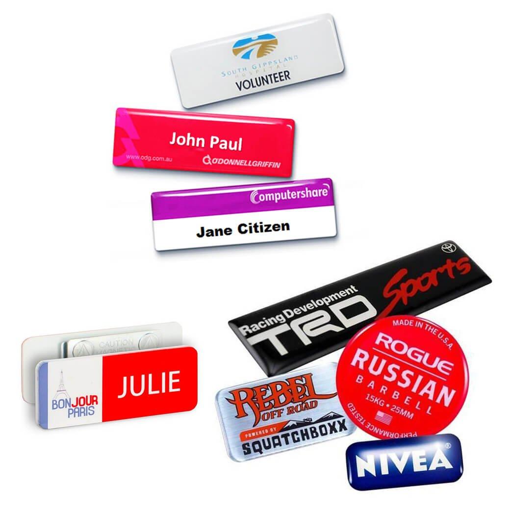 epoxy badge & sticker